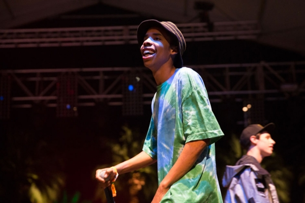 Earl Sweatshirt performs at Coachella 2013 in Indio, California on April 12, 2013. / Photo by Andrew Swartz