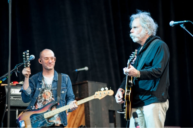 Bob Weir joins the National onstage at Outside Lands, San Francisco, August 9, 2013 / Photo by Wilson Lee