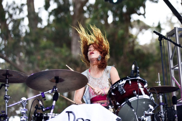 Deap Vally at Outside Lands, San Francisco, August 11, 2013 / Photo by Jolie Ruben