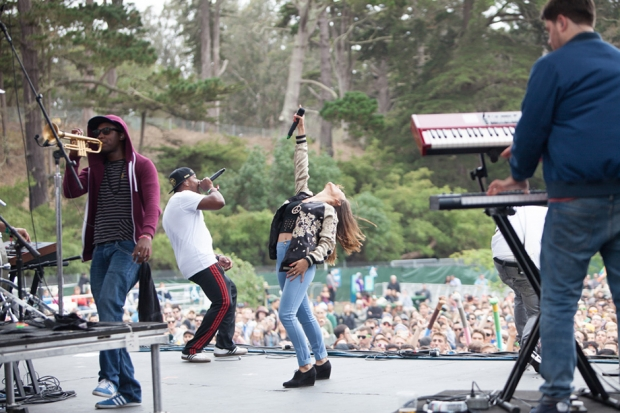 Rudimental at Outside Lands, San Francisco, August 11, 2013 / Photo by Tom Tomkinson