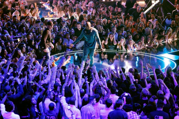 Kanye West at the 2013 MTV Video Music Awards / Photo by Getty Images