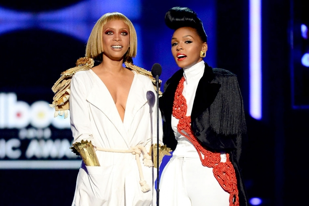 Erykah Badu and Janelle Monae at the 2013 Billboard Music Awards / Photo by Getty Images