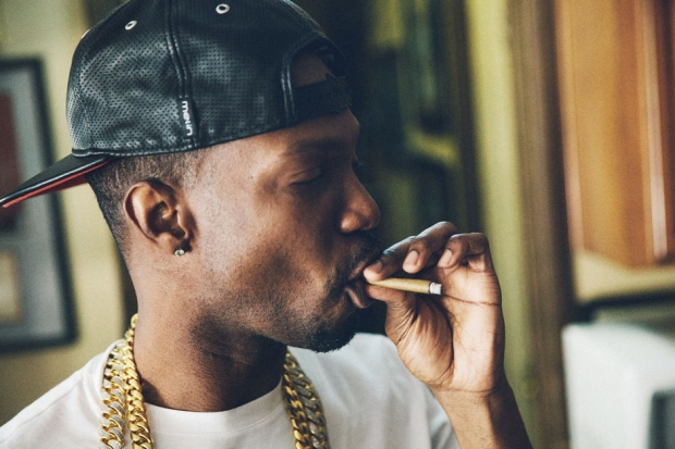 Juicy J in Los Angeles, August 2013 / Photo by Bryan Sheffield for SPIN