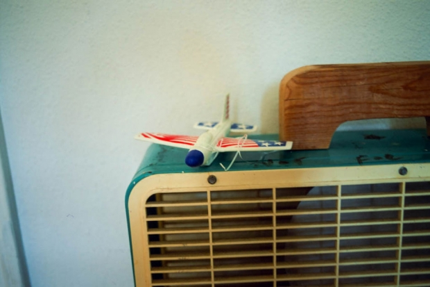 A toy plane at Bill Callahan's home, Austin, Texas, August 2013 / Photo by Hanly Banks for SPIN