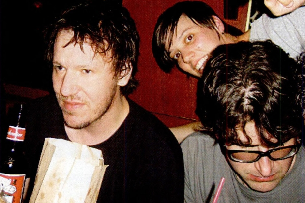 Smith, half sister Ashley Welch, and Sebadoh's Lou Barlow at Smith's birthday bash, August 2003