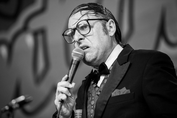 Neil Hamburger at Festival Supreme at Santa Monica Pier, CA, October 19, 2013 / Photo by Erik Voake