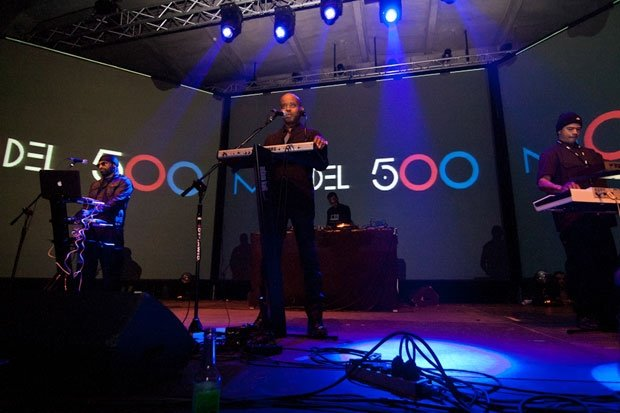 Juan Atkins and Model 500 performing at the 2011 Unsound Festival in Nova Huta, Poland / Photo by Anna Spysz
