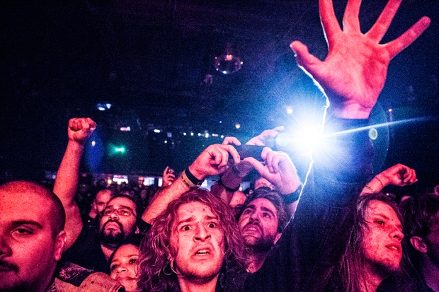 Watain crowd at Irving Plaza, New York City, October 8, 2013 / Photo by Krista Schlueter for SPIN