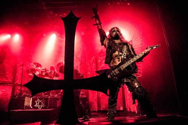 Pelle Forsberg of Watain at Irving Plaza, New York City, October 8, 2013 / Photo by Krista Schlueter for SPIN