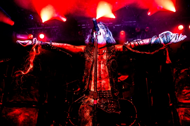 Erik Danielsson of Watain at Irving Plaza, New York City, October 8, 2013 / Photo by Krista Schlueter for SPIN