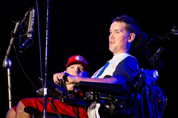 Steve Gleason introduces Pearl Jam at Voodoo Music + Arts Experience, New Orleans, November 1, 2013 / Photo by Joshua Brasted