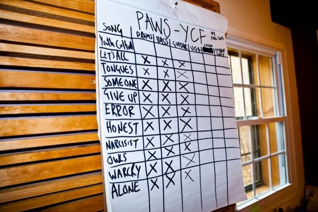 PAWS tracklist / Photo by Jolie Ruben