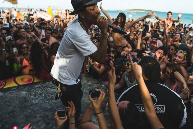 Pharrell Williams at Holy Ship!!! / Photo by Loren Wohl
