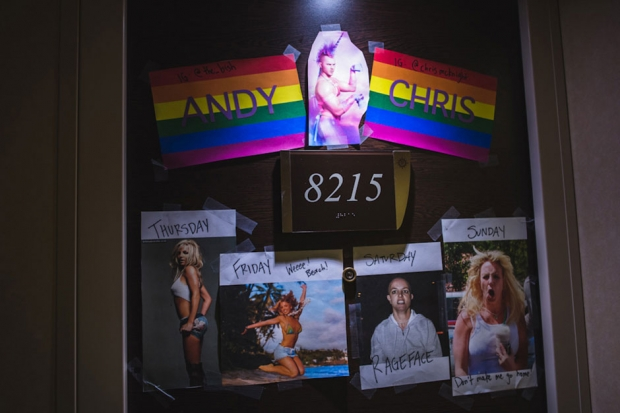 Door décor at Holy Ship!!! / Photo by Loren Wohl