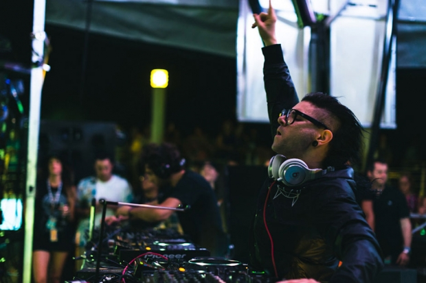 Skrillex at Holy Ship!!! / Photo by Loren Wohl