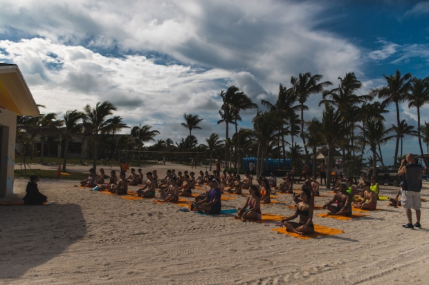 Gina Turner's Yoga at Holy Ship!!! / Photo by Loren Wohl