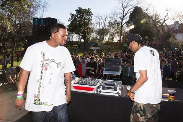 DJ Rashad and DJ Spinn / Photo by Rebecca Smeyne