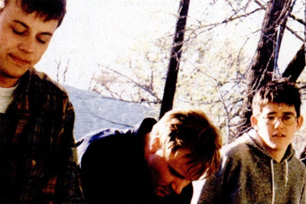 Saddle Creek Records chief Robb Nansel, the Faint's Todd Baechle, and Oberst in 1997.