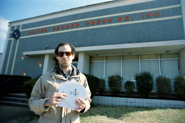 Todd after picking up test pressings at Nashville's United Record Pressing, 2011.