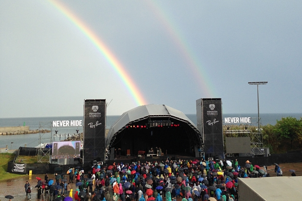 Double rainbow at Primavera Sound