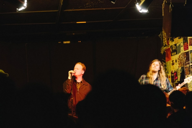 Protomartyr plays their record release/tour kick-off show at PJ's Lager House in Detroit on April 8, 2014.