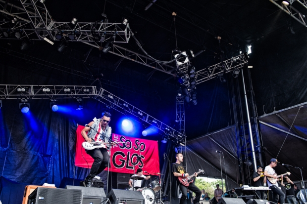 So So Glos performing at Lollapalooza 2014 / Photo by Dana Distortion for SPIN
