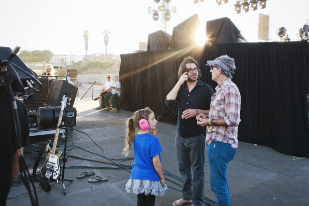 Lou Barlow and his daughter Hannelore, backstage at FYF Fest, 2012 / Photo by Nathaniel Wood