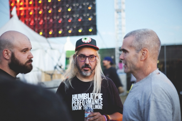 Fucked Up's Damian Abraham, J. Mascis, and Henry Rollins at FYF Fest / Photo by Nathaniel Wood