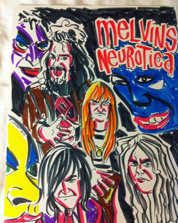 Melvins <i>Neurotica</i> by Brian Walsby / Photo Courtesy of the Melvins&#8221; title=&#8221;Melvins <i>Neurotica</i> by Brian Walsby / Photo Courtesy of the Melvins&#8221; class=&#8221;image-style620_775_article_or_blog&#8221; />    <img src=