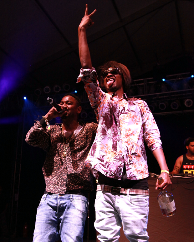 Kendrick Lamar and Danny Brown onstage at Bonnaroo, 2012 / Photo by Getty Images