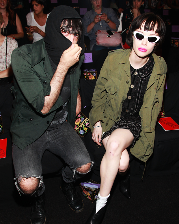 Crystal Castles attend the Anna Sui Spring '12 fashion show in New York City, September 2011 / Photo by Astrid Stawiarz/Getty for Mercedes-Benz Fashion Week