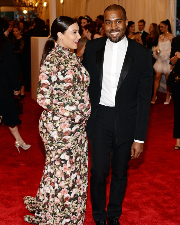 Kim Kardashian and Kanye West at the Met Gala, May 2013 / Photo by Dimitrios Kambouris/Getty