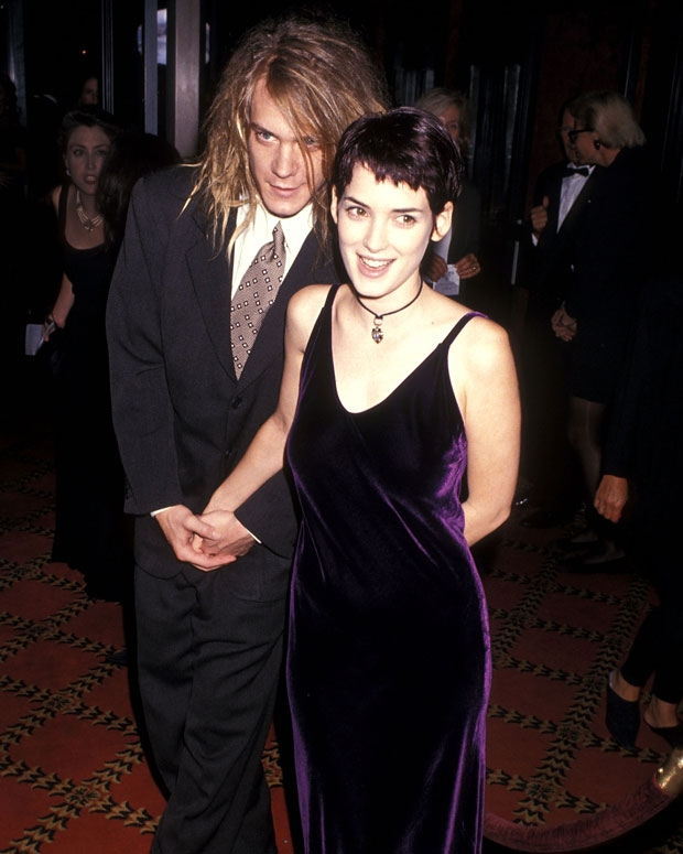 "Dave Pirner and Winona Ryder attend ""The Age of Innocence"" New York City Premiere on September 13, 1993. / Photo by Getty Images"