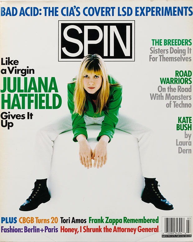 SPIN's March 1994 issue featuring Juliana Hatfield