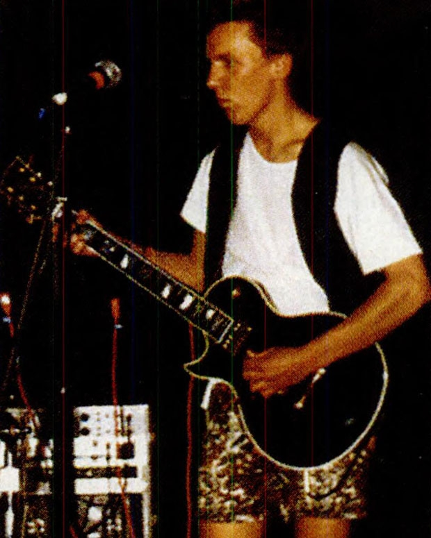 Smith with his band Stranger Than Fiction at a Lincoln High homecoming dance, 1986 / Photo courtesy Lincoln High School Library