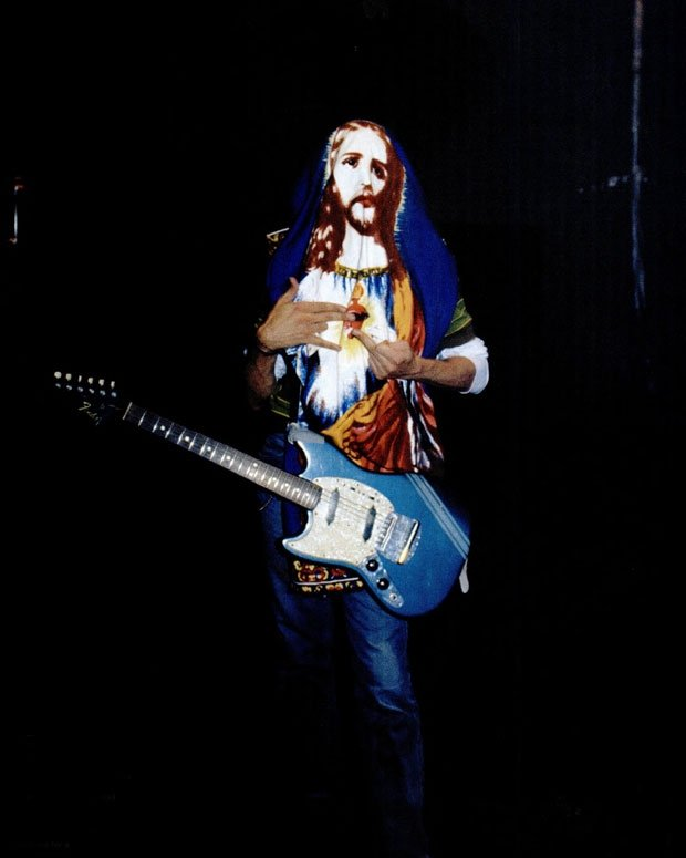 "Cobain at the ""Smells Like Teen Spirit"" video shoot, August 17, 1991"
