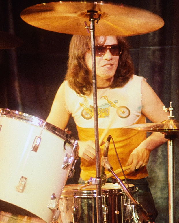 Tommy Ramone at Toad's Place, New Haven, Connecticut, January 5, 1978. / Photo by Tom Hearn