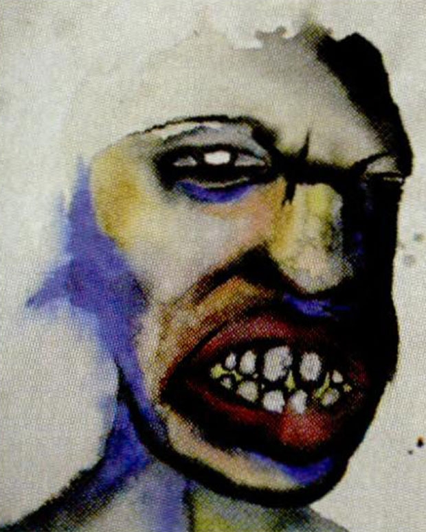 One of Manson's paintings / Photo by WENN