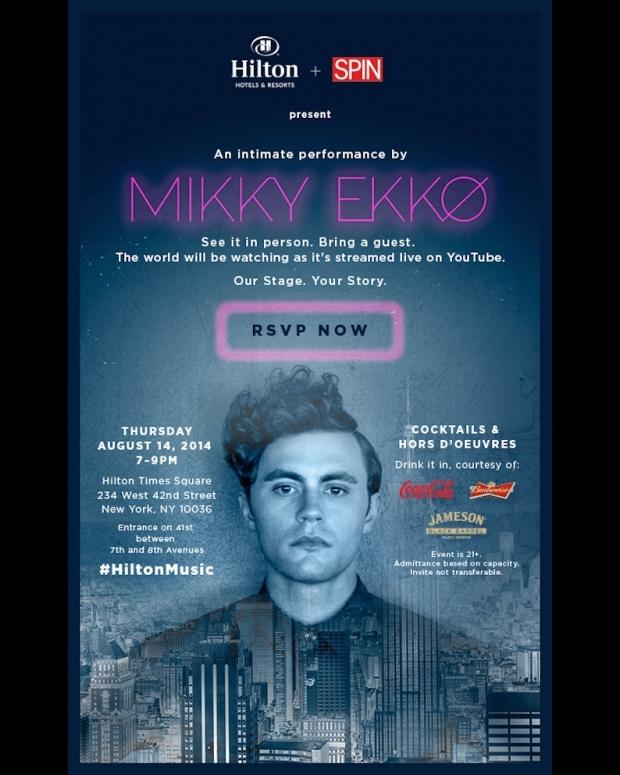Mikky Ekko Spin Hilton Live Stream